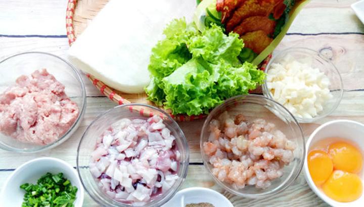 Nguyên liệu cho món cơm chiên hải sản