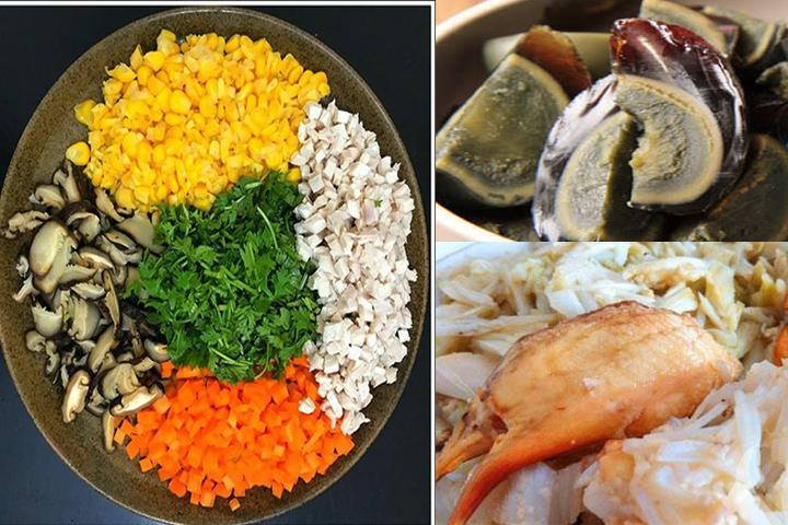 Nguyên liệu nấu súp cua trứng bắc thảo