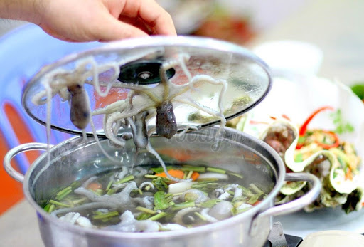 cách nấu bạch tuộc nhúng mẻ